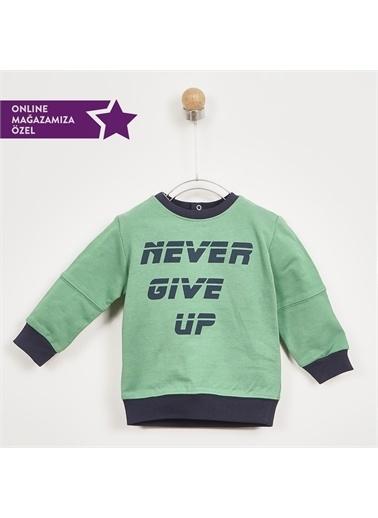Panço Erkek Bebek Sweatshirt 2021BB08050 Yeşil